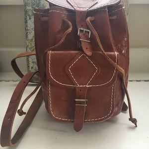 Handbags - All leather mini backpack
